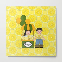 Lemonade Stand Metal Print