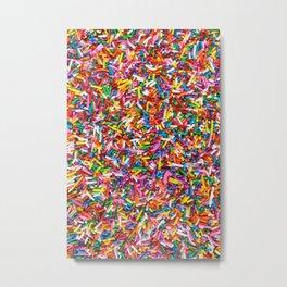 Rainbow Sprinkles Sweet Candy Colorful Metal Print