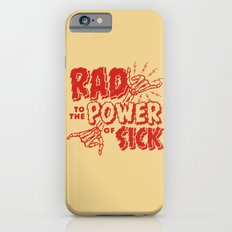 Rad to the Power of Sick - Red Print iPhone 6 Slim Case