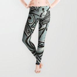 Hawaiian Slate Ocean Spray Print Leggings