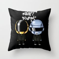 Daft Robots Throw Pillow