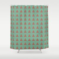 geo Shower Curtains featuring Geo by wendygray