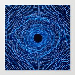 Black hole -futuristic space- Neon blue Canvas Print