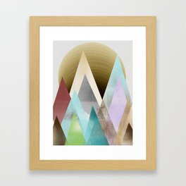 sunset peaks  Framed Art Print