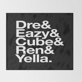 Straight Outta Helvetica Throw Blanket
