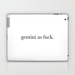 gemini a fuck Laptop & iPad Skin