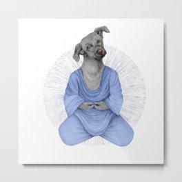 Almost meditating dog 2 Metal Print