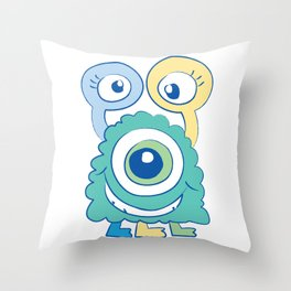 Lil Monsters 2 Throw Pillow