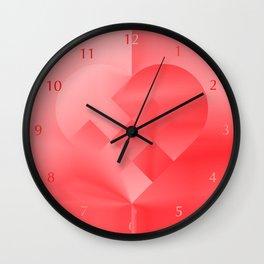 Danish Heart Love Wall Clock