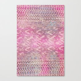 knit patchwork in soft pink Canvas Print