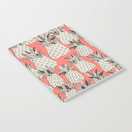 pineapple blush coral Notebook