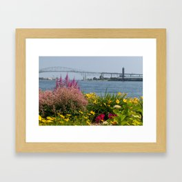 Bluewater Bridge Framed Art Print