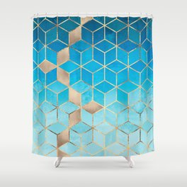 Sea And Sky Cubes (Custom Request) Shower Curtain