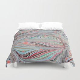 Marbled Multi-color Organic Pattern Duvet Cover