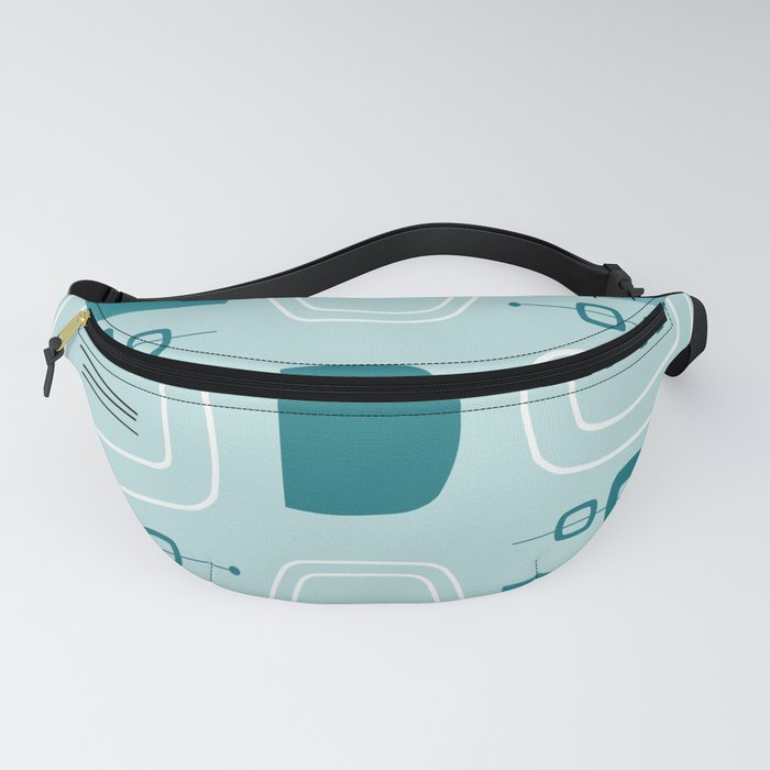 Midcentury Modern Bowls & Stones Turquoise Fanny Pack