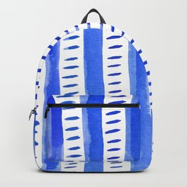Watercolor lines - blue Backpack