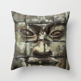The Face of Angkor Thom Throw Pillow
