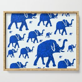 ELEPHANT BLUE MARCH Serving Tray