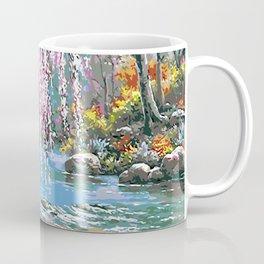 Tardis Art Cherry Blossom River Painting Coffee Mug