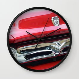 Cherry Red Ride Wall Clock