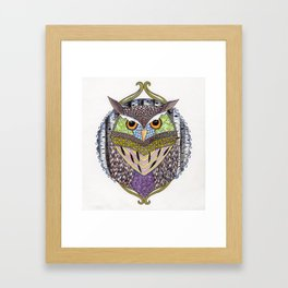 Poorly Camouflaged Owl Framed Art Print