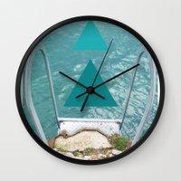 swim Wall Clocks featuring Swim by TiannaFowler