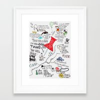 paper towns Framed Art Prints featuring Paper towns, John Green by Natasha Ramon