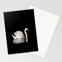 Mute Swan Cygnus olor at lake Stationery Cards