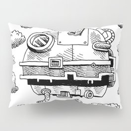 Mobile dust collector sky spaceship Pillow Sham