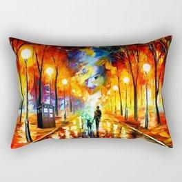 Tardis Art Watching Rectangular Pillow