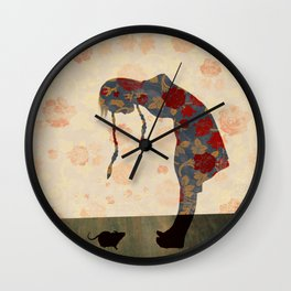 into the wallpaper Wall Clock