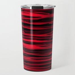 Juicy Red Apple Stripes Travel Mug