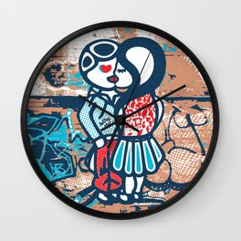 Ambigender Lovers Wall Clock