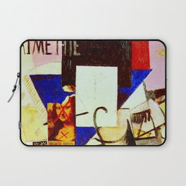 Composition with the Mona Lisa by Kazimir Malevich - Vintage Painting Laptop Sleeve