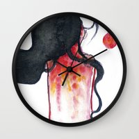 water color Wall Clocks featuring Water color by Kohaku+Disorder