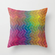 Zigzag & Zigzag 6 Throw Pillow