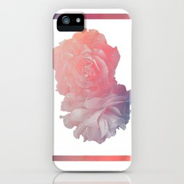 Aesthetic Rose Pink Flower T-Shirt Pastel Retro Graphic Tee iPhone Case