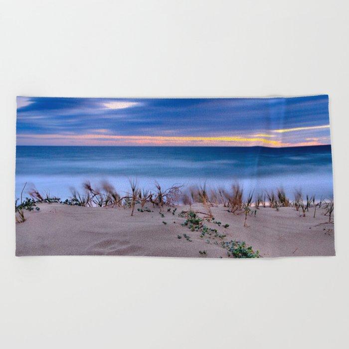 Windy sunset. Sea dreams.... Beach Towel