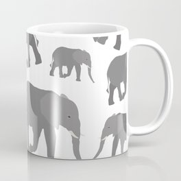 Elephant Pattern Design Coffee Mug