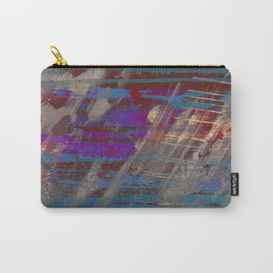 Depth - Abstract, Textured Oil Painting Carry-All Pouch