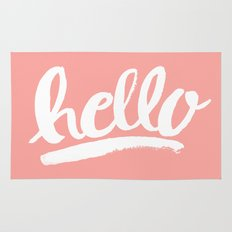 Hello Hand Lettering - Coral Rug