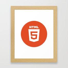 HTML (HTML5) Framed Art Print