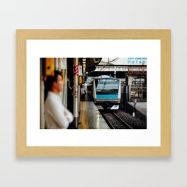 Train's Coming Framed Art Print