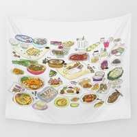 food Wall Tapestries featuring Food  by tofubros