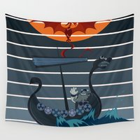 viking Wall Tapestries featuring The Viking by milanova