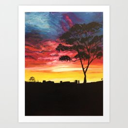Pilbara Sunset Art Print