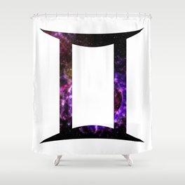 Galactic Gemini Shower Curtain