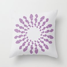 purple and grey Throw Pillow