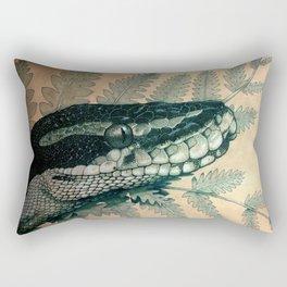 Ball Python Portrait Rectangular Pillow