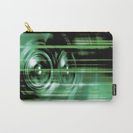 Green music speakers Carry-All Pouch